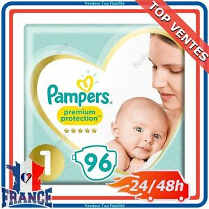 96-Couches-Pampers-Premium-Protection-New-Baby-Taille-1-pour-Bebe-de-2-a-5Kg-FR
