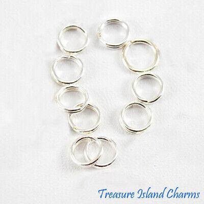 SPLIT RINGS Jump STERLING SILVER 6mm 925 Pack of 10 for Charm Bracelets etc...