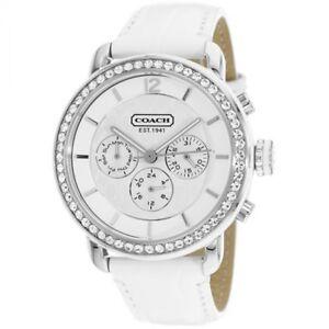Coach-Legacy-Chronograph-White-Leather-Sport-Strap-Watch-14501653