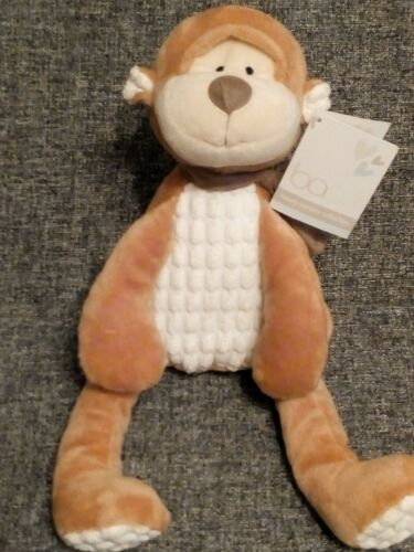 BAO LUXURY NURSERY COLLECTION PEANUT MONKEY SOFT TOY 22CM NEW WITH TAGS