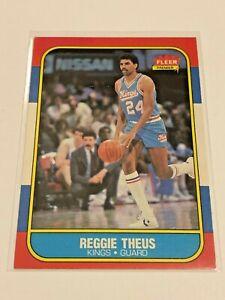 1986-87 Fleer Basketball Base Card #108 - Reggie Theus - Sacramento Kings