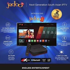 Details about Jadoo TV 5S Android Box Live Channels India Afghanistan  Pakistan Iran 4K UHD