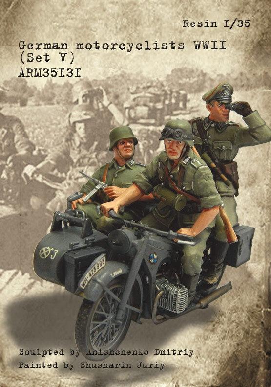 Armor35 1 35 WWII German Motorcyclists Set V (3 figures)