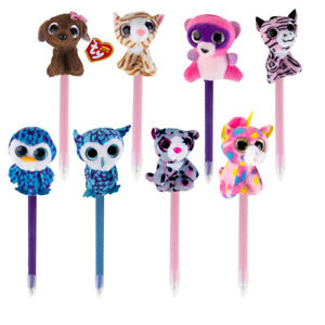 TY Beanie Boos Pens Plush Animals On Top Cute Office Home Kids School Supplies