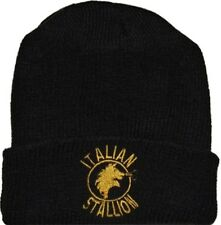 Rocky Balboa Italian Stallion Logo Wool Hat Black Beanie Knit Drago Apollo Creed