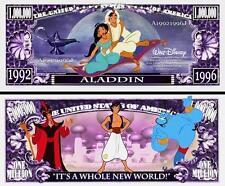 ALADIN . Walt Disney . Million Dollar USA . Billet de commémoration / Collection