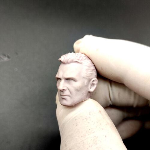 "Hot 1//12 Scale Taken Liam Neeson Head Sculpt Unpainted Fit 6/"" ML Figure"