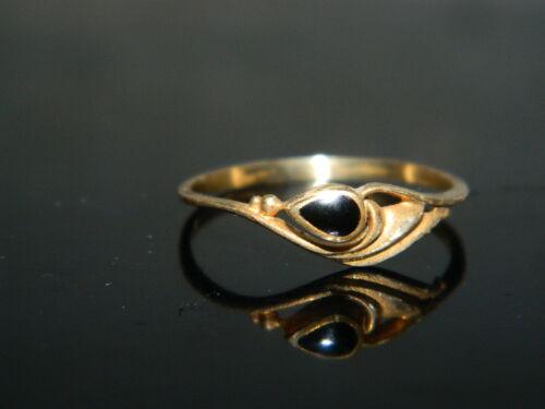 @ @ @ antigua edad anillo 18 jhundert oros de latón con Onyx piedra @ @ @