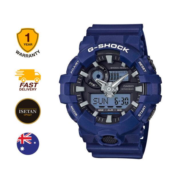 Casio Analog-Digital Sport G-Shock Blue Mens GA-700-2A