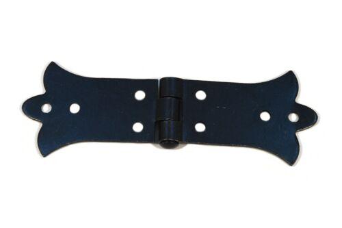 Charnières décoratif plates fer pour portes intégrées charnières de meubles noir