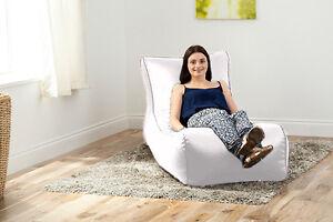 White-Faux-Leather-Lounger-Beanbag-Big-Giant-Bean-Bag-Sofa-Bed-Chaise-Longue