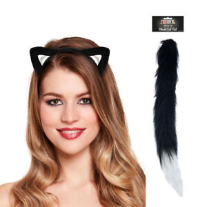 Cats Ears Tails Set Carnival Party Costume Festival Animals Nose Fancy Dress