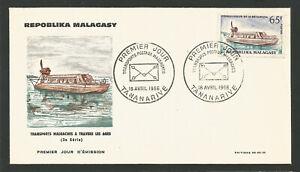 Fdc 1er Jour Madagascar Répoblika Malagasy 1966 Tananarive /l1730