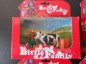 Vintage Little People Famille Play House Sylvanian Fisher Grange Animaux de la ferme