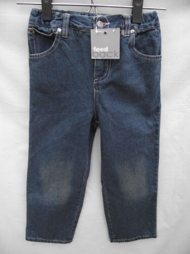 BNWT Boyss Sz 4 Feedback Dirty Look Denim Adjustable Waist Straight Leg Jeans