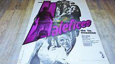 LES MALEFICES DE LA MOMIE ! hammer film affiche cinema epouvante 1965