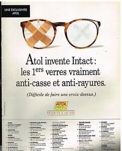d5ed3b773124c1 Publicité Advertising 1993 Les Lunettes Atol   eBay