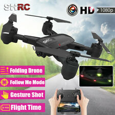 SHRC 2.4G 1080P HD Camera Selfie WIFI FPV Foldable Follow Me RC Drone  *