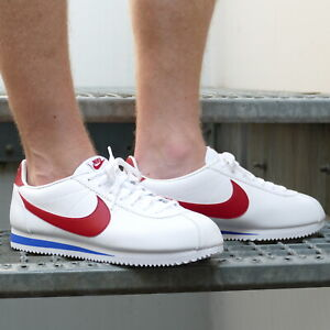 Details about Nike Classic Cortez Leather Shoes Leather Sneaker 749571 154 White Red show original title