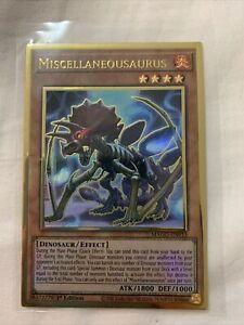 Miscellaneousaurus NM 1st Ed YuGiOh MAGO 015 Maximum Gold Premium Gold Rare