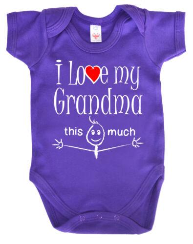 """Lustig Baby Body /"""" I Love Mein Oma das Viel /"""" Strampler Jungen Mädchen"""