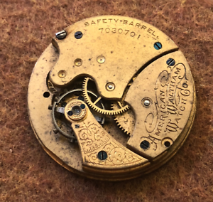 Vintage-1896-1899-Waltham-Model-1890-Grade-J-Pocket-Watch-Movement-6s-7j
