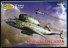 RS Models 1/72 German HENSCHEL Hs-132A Jet Dive Bomber Project