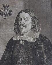 JEAN ADLER SILVIUS Plenipotentiaire de SUEDE......... Portrait. Gravure original