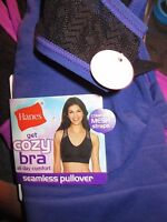 Hanes Get Cozy Seamless Pullover Wire-free Bra All Day Comfort Size Xl Purple
