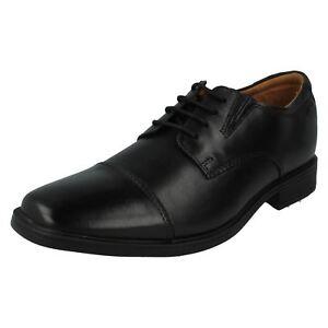Homme Tilden Cap Noir En Cuir à Lacets Chaussures Par Clarks Détail £ 49.99-afficher Le Titre D'origine ModèLes à La Mode