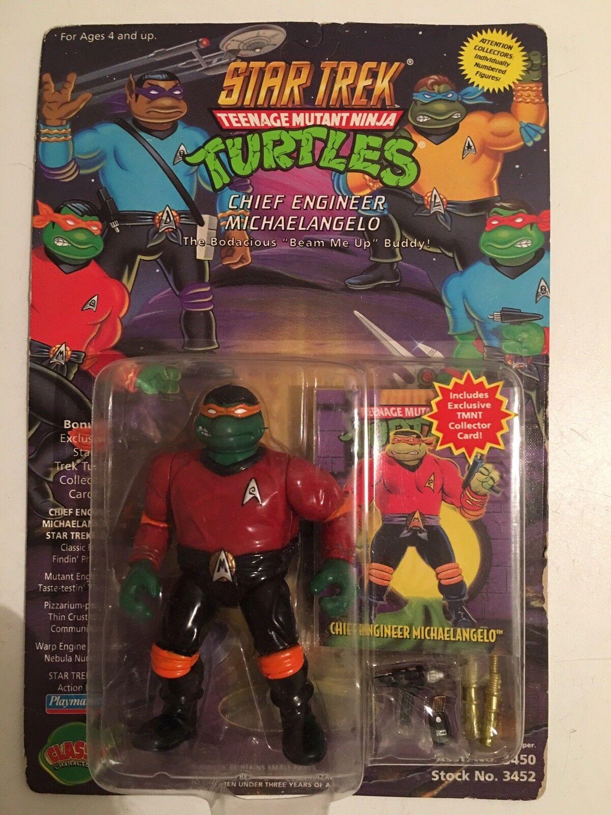 Teenage mutant ninja turtles. abbildung auf der karte michelangelo als scotty