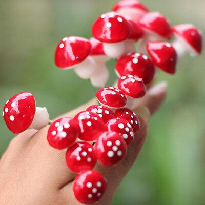 Home & Garden 10pcs Mini Red Mushroom For Plant Pots Fairy Decor Garden Dollhouses Home Office Fast Color Yard, Garden & Outdoor Living