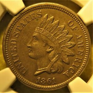 1861-Indian-Head-Cent-graded-AU-55-by-NGC