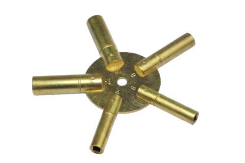 Proops Odd 3-11 Brass Clock Spider Keys Winding Keys Key J1138