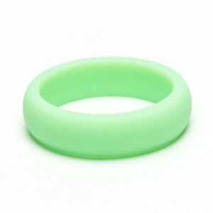 Mint Green Silicone Wedding Band Workout Ring For Women Girls Gym