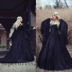 With and Dresses Sleeves Wedding Black Whvictorian