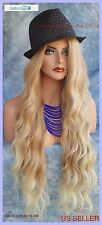 LACE FRONT WIG LONG ROLLING ALLURING WAVES BLOND HIGHLIGHT T27.613 US SELLER 189
