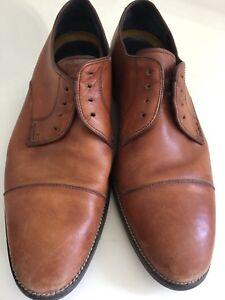 5b1df60837 Mens Cole Haan Brown Cap Toe Oxfords Lace up Leather Dress Shoes 9M ...