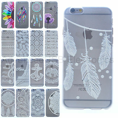 Dream catcher Flowers Hard Plastic Matte Clear Case for iPhone 6/5/5S/6+ 5.5/Sam
