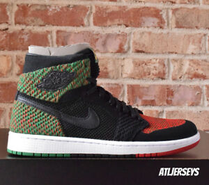 reputable site 7abbd dab2c Image is loading Air-Jordan-1-Retro-High-Flyknit-BHM-Black-