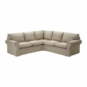 IKEA Ektorp Corner Sofa SLIPCOVER 22 Cover RISANE NATURAL Linen