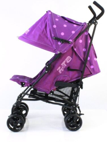Plum Dots Stroller With Free Rain Cover Limited Edition ZeTa Vooom