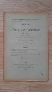 Recueil Mensual - Revista ESCUELA Antropología De París - 1899 - N º 3