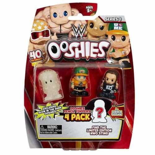 Ooshies WWE 4-PACK WAVE 1 MIX 1-4 figure da collezione matita Topper