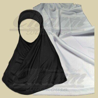 Khimar Pull Over musulmans prient écharpe Enfants One Piece Plain Cotton Hijab Burqa
