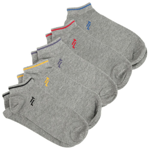 Tokyo Laundry Charlie 5er-Pack Sneaker Socken kurz Strumpf grau weiß schwarz neu