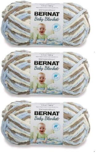 Yarnspirations Bernat Baby Blanket Yarn 3-Pack Little Cosmos Knitting 72 yd//Roll
