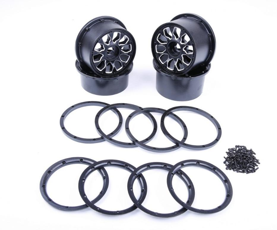 Alloy metal wheel hub set fit HPI KM Rovan baja 5B RC CAR PARTS