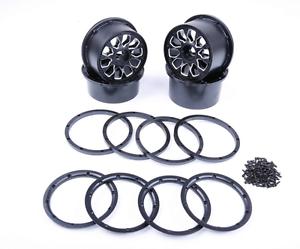 Aleación Metal Conjunto de cubo de rueda ajuste HPI KM Rovan Baja 5B RC Car Parts