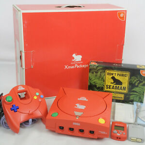 Dreamcast-SEAMAN-Xmas-Package-Console-System-Limited-Tested-Ref-019010063347